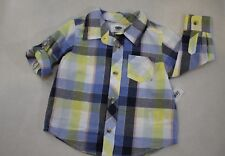 Old Navy Toddler Boy's Long Sleeve Cotton Button Front Shirt 18-24M New