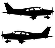 Piper PA-28 Cherokee Warrior - Aviation Silhouette Vinyl Decal