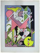 Affiche / Poster sérigraphie Gerbaud Le modèle Willem L'ennemi l'Atelier