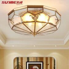 European Cone Copper LED Ceiling Lights vintage Indoor Light For Living Room