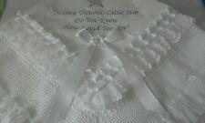 beautiful white twinkle twinkle little star baby shawl **NEW**
