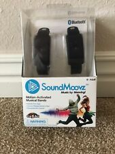 Sound Moovz Motion Activated Music Bands Black Bluetooth Free Apps New!