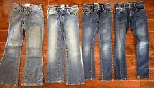 HUGE LOT OF GIRLS JEANS SIZE 8 OLD NAVY ADJUSTABLE Boot-cut Super Skinny