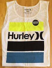 "HURLEY ""BRICK"" Modern Fit Tank Top Shirt - Men's XL (white) NWT"