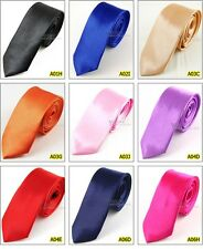 Wholesale 5 PCS Punk Skinny Slim Narrow 2'' Wedding Neckwear Neck Tie