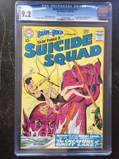 BRAVE AND BOLD #27 CGC NM- 9.2; CM-OW; 3rd app. of Suicide Squad!