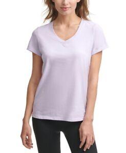 Calvin Klein Performance Women's Cotton V-Neck T-Shirt, Pink, Size M, $25, NwT