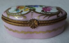 Antique Limoges France Blakeman & Henderson Floral Bouquet Trinket Box 1920's