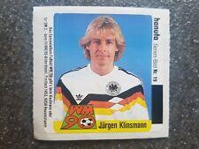 Ferrero Hanuta Sammelbild Jürgen Klinsmann DFB GER Fußball WM 90 Nr. 19 Rarität!