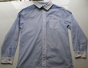 Camicia a Righe Blu E Bianche JACADI 12 Anni Quasi Nuove