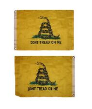 2x3 Gadsden Don't Tread On Me 2 Faced 2-ply Wind Resistant Flag 2x3ft