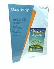 "Acrylic 8.5"" X 11"" Single Slant Back Design Clear Sign Holder"