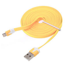1 Meter Flat USB Data Charge Charger Cable Lead For iPhone 6 5S/C iPad Mini iPod