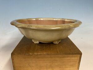 """Beautiful Shape High Quality Chinese Made Bonsai Tree Pot 12 3/4"""" Great Patina"""