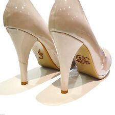 Zapato de boda de cristal de bronce que hago Suela Pegatina XSS28