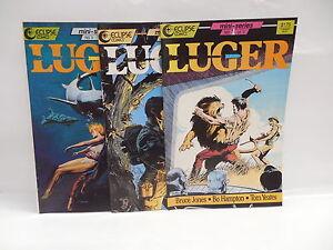 Luger Eclipse Comic Books 1-3 Bruce Jones Bo Hampton Tom Yeates