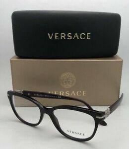 New VERSACE Eyeglasses VE 3205-B 5123 52-16 Burgundy & Silver Frame w/ Crystals