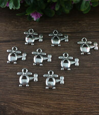 Wholesale 12pcs Tibet silver Helicopter Charm Pendant beaded Jewelry Findings  !