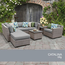 Catalina 8 Piece Outdoor Wicker Patio Furniture Set 08g
