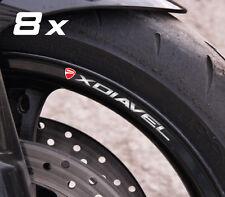 8 x Ducati XDiavel wheel decals rim stickers stripes set new Laminated x diavel