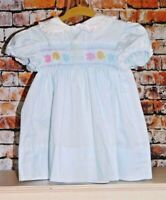 Vintage Polly Flinders Hand Smocked Bodice Boutique Dress Sz 24 M Runs Small