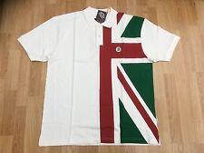 Bandera de Troya Italia Para hombre 100% Algodón Polo Camisa Crema Tamaño XXXL