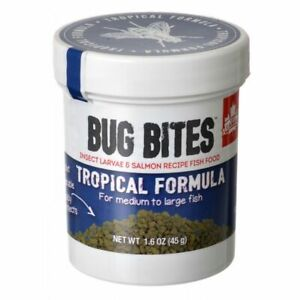 Fluval Bug Bites Tropical Formula Granules for Medium-Large Fish 1.6 oz