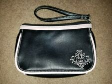 Mary Kay Black Zippered Cosmetic Bag Pink Rose New