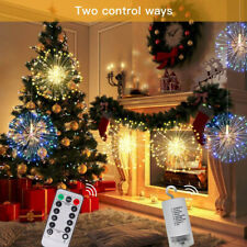 Hanging Firework 120LED Fairy String Light Remote 8Modes Party Xmas Home Decors