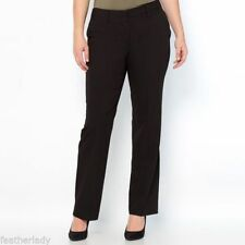 Straight Leg Viscose Plus Size Tailored Trousers for Women