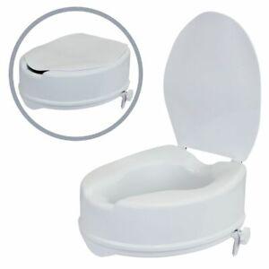 Toilettensitzerhöhung, WC Sitzerhöhung, Toilettenaufsatz mit Deckel für WC Sitz