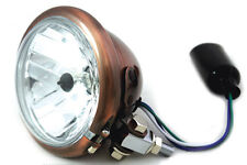 """4-1/2"""" Round Headlamp Copper For Custom Harley Motorcycles"""