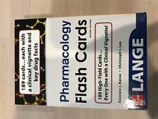 LANGE PHARMACOLOGY FLASH CARDS SECOND / 2nd EDITION