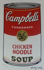 ANDY WARHOL CAMPBELL'S SOUP I CHICKEN NOODLE SIGNED HAND NUMBERED  LITHOGRAPH