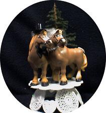 Country Western Horse Wedding Cake Topper Groom top Farmer Barn Cowboy Cowgirl