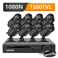 Zclever 720P 8CH 5in1 DVR CCTV Home Surveillance Security System Outdoor Camera