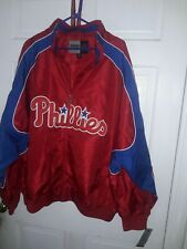Philadelphia Phillies MLB baseball coat Majestic Home Base dugout Jacket NEW 3XL