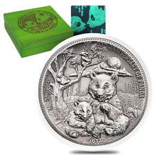 Sale Price - 2017 8 oz Silver Panda Fiji $5 Coin .999 Fine Antiqued High Relief