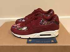 Nike Air Max 90 SE Floral Shoe - Tm Rd/Prpl/Smmt Wht - Women's 7 #881105 600