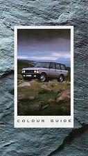 Range Rover Colour & Trim 1990-91 UK Market Multilingual Foldout Brochure