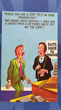A Bamforth Comic Postcard 1970s TAYLOR MADE TO MEASURE SUIT ZIP FLY TIE No 943