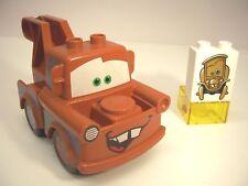 Lego Duplo Disney Pixar Cars Tow Mater Figure Wheels w/ Hook & Bonus TM Brick