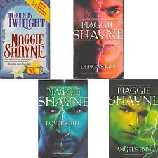 LOT 4 Maggie Shayne BORN TWILIGHT DEMON'S KISS LOVER'S BITE ANGEL'S PAIN S2