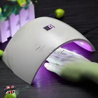 24W Pro CCFL Nail Light Art Timer Dryer LED Sensor UV Lamp Gel Polish Curing 01