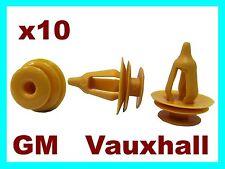 10 Vauxhall GM door card fascia trim lining panel sill fastener clips
