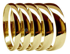 9ct Yellow Gold Wedding Rings D Shape Medium 2mm 3mm 4mm 5mm 6mm 375 UK HM H-Z1