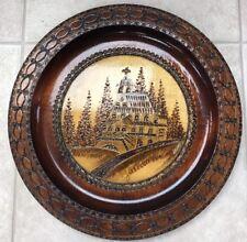 Polish Carved Wood Plate Jaszczoroka Chapel Zakopane Poland Decorative Platter