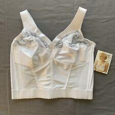 Glamorise Longue Ligne Taille de Soutien-Gorge 44c Blanc Style 2000
