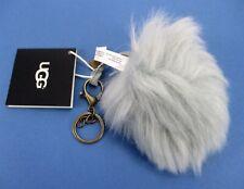 UGG Keychain Wren Pompom Purse/Bag Charm Grey Fur Pompom Furry Ball