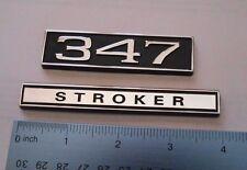 347 STROKER  black plastic with Chrome   emblem emblems badge new